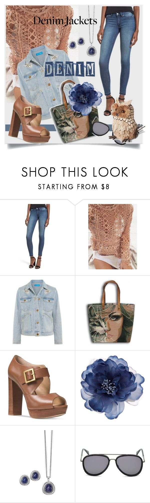 """""""Denim Trend: Jean Jackets"""" by kari-c ❤ liked on Polyvore featuring Cheap Monday, M.i.h Jeans, Sephora Collection, Michael Kors, Accessorize, Avon, Diesel, Smith & Hawken and jeanjackets"""