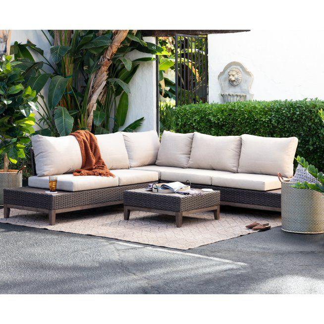 Belham Living Rhen All Weather Wicker Outdoor Sofa Set Outdoor