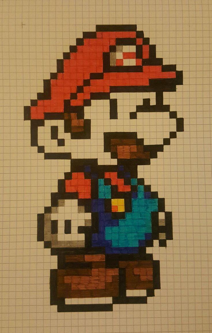Mario Bross Pixel Kunst Skizze Malerei Malen Und Zeichnen