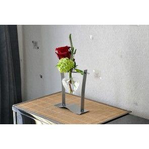 Soliflore coeur balancoire métal et verre