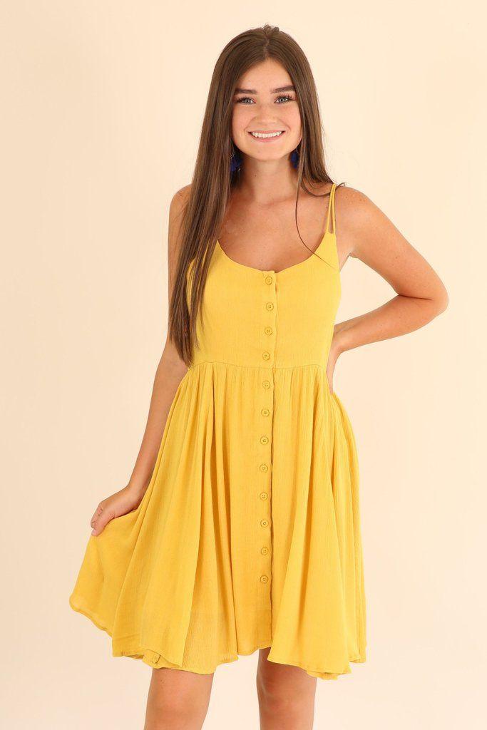 764eab89fc2 Cute yellow summer dress