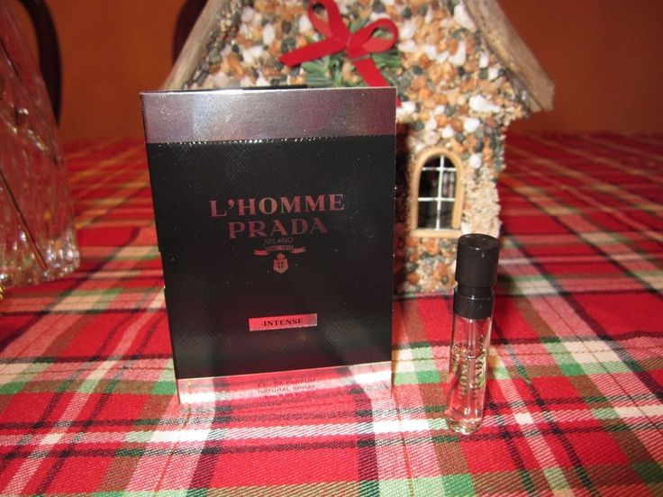 L'HOMME PRADA INTENSE EDP Men's Perfume Fragrance Spray Travel Vial Sample NEW  #PRADA