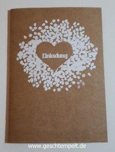 Stampin up Hochzeit, Invitation, Einladung, Herzklopfen, wedding