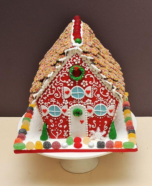 Gingerbread house/cake Gingerbread Houses Pinterest