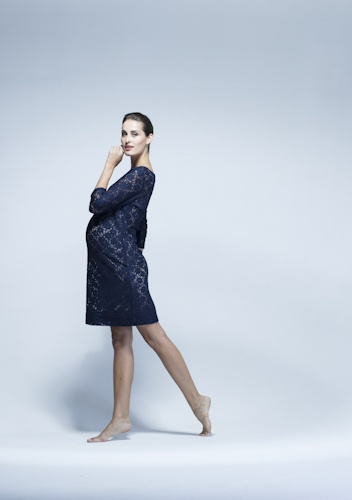 Classic lace maternity dress - work it with heels for a friend's wedding or boots and a biker jacket for street cred