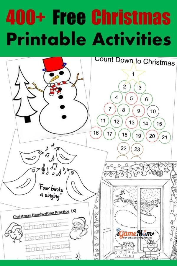 400+ Free Christmas Learning Printable Activities for Kids   Winter ...