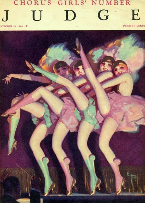 Bolles, Enoch (b,1883)- Chorus Line- 'Judge' mag- Oct. 1924 -2d