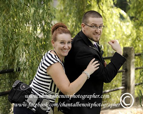 Having fun with the groom - Ottawa downtown wedding