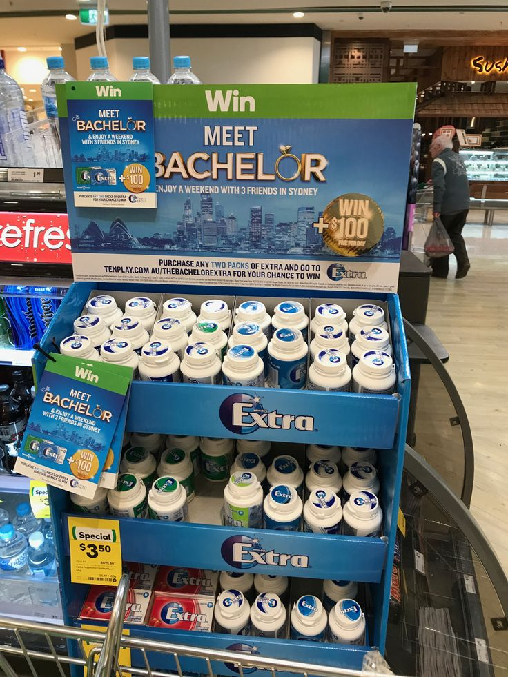 Lastest Extra Bachelor promotion for Wrigleys in Woolworths. Win a weekend in Sydney to meet the Batchy with 3 friends, plus 5x $100 given away every day.  #SS25Sept2017 #Wrigleys #Extra #Batchelor #Promotion #WIN #Woolworths