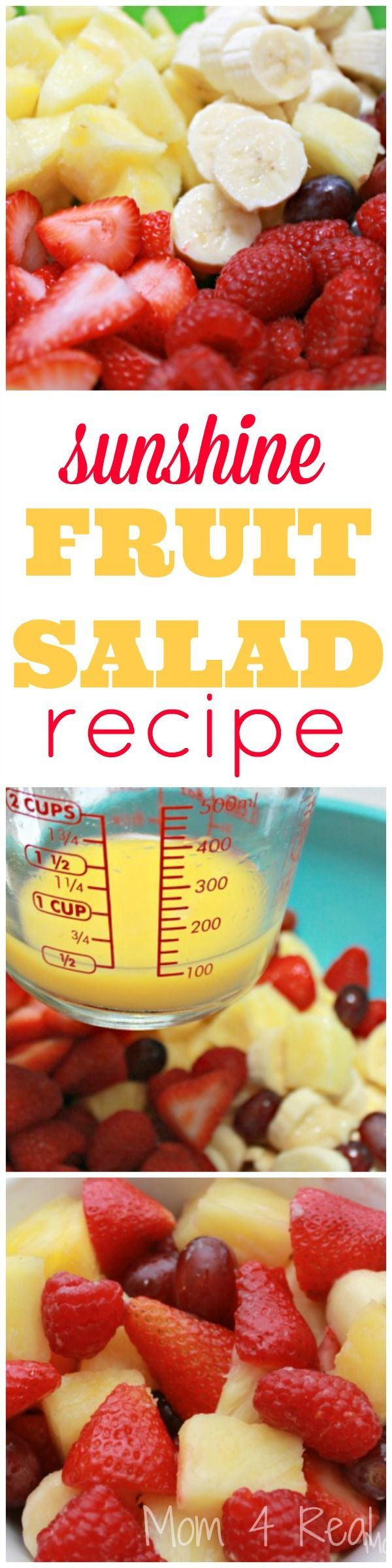 Sunshine Fruit Salad Recipe - Mom 4 Real
