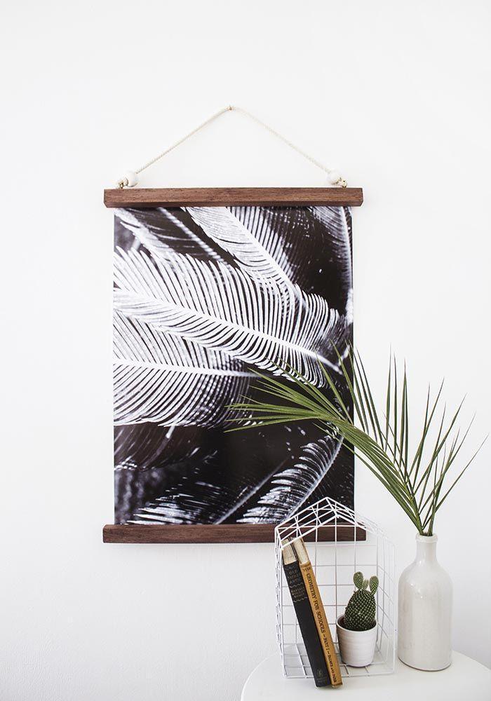 DIY hanging frame at Design*Sponge