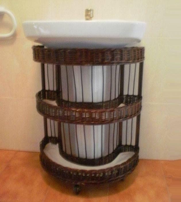 Estanteria bajo lavabo - Shelf under toilet Ва-а-ау!!!! Мне срочно такое надо!!!!