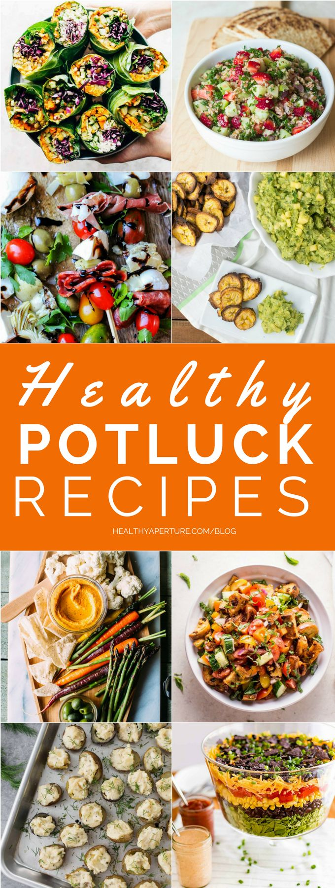 These Healthy Potluck Recipes are perfect for summer! Make one for your next bbq, pool party or family gathering.