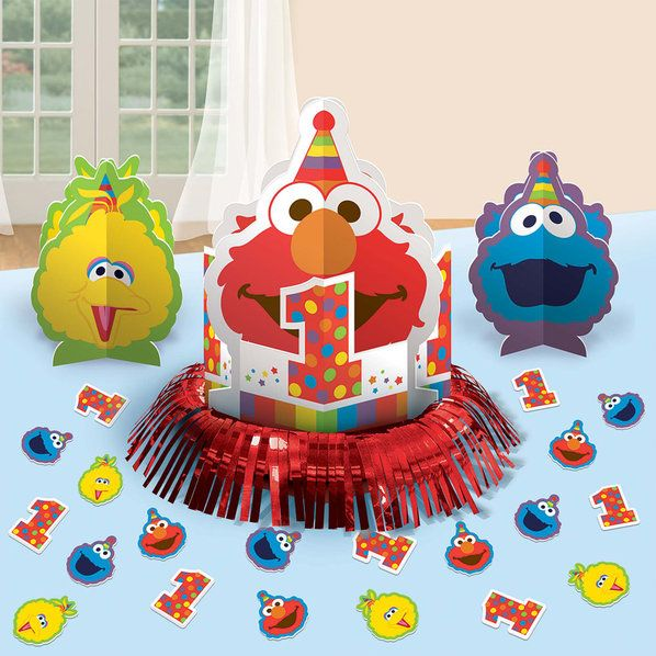 Check out Elmo Turns One Table Decorating Kit | Elmo's 1st Birthday party supplies from Birthday in a Box from Birthday In A Box