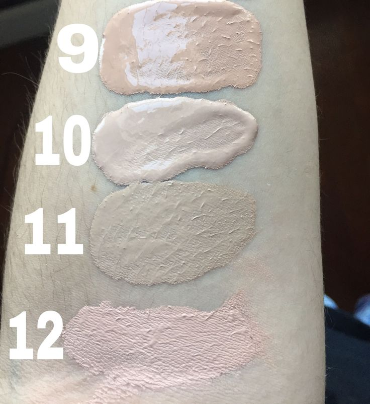 Maybelline Matte + Poreless in 115 Ivory    Wet n Wild Photofocus in Shell Ivory    Rimmel 25 Hour Lasting Finish in 100 Ivory    Maybelline Dream Liquid Mousse in 10 Porcelain Ivory