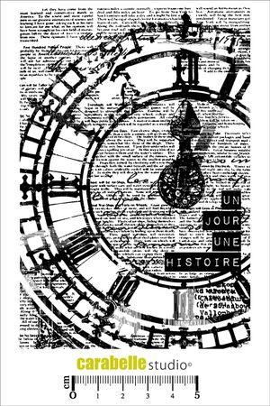 Tampon : Horloge un jour, une histoire - Art Stamp - CARABELLE STUDIO