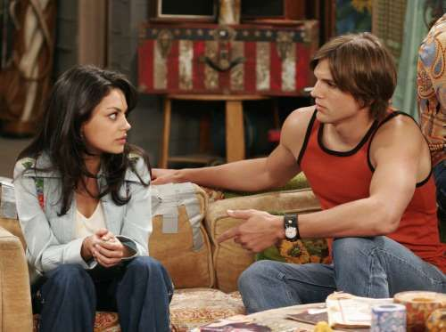 """Who would have thought that the stars who played Michael Kelso and Jackie Burkhart would end up married with a daughter named Wyatt and one more on the way? Ashton Kutcher and Mila Kunis may have played the roles of a couple in love for laughs on """"That '70s Show,"""" but they later proved that their chemistry was no joke."""