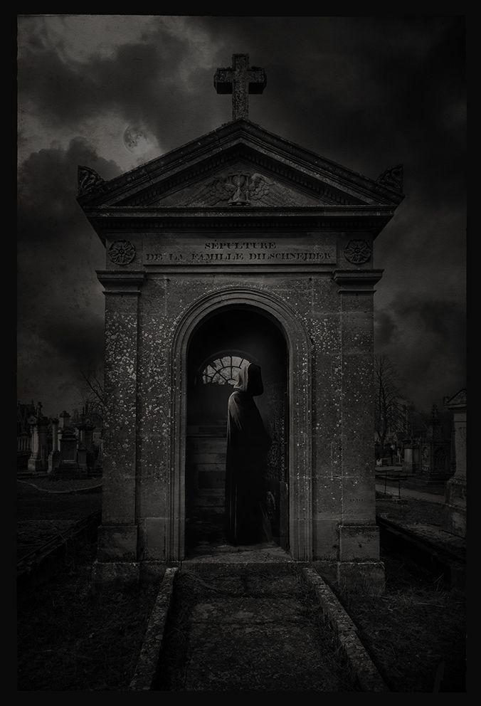 Gothic, Cemetery, Reaper, Friedhof