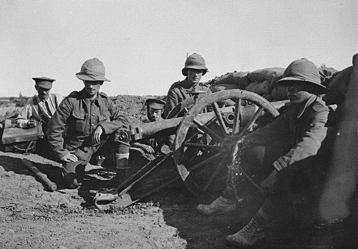 PHOTOGRAPHS RELATING SERVICE H T ANDREW MEDICAL OFFICER WITH 29TH DIVISION DURING... (HU 105637)   A 10-pounder mountain gun and crew from 4th (Highland) Mountain Brigade, Royal Garrison Artillery (RGA) in the British lines at Cape Helles, Gallipoli