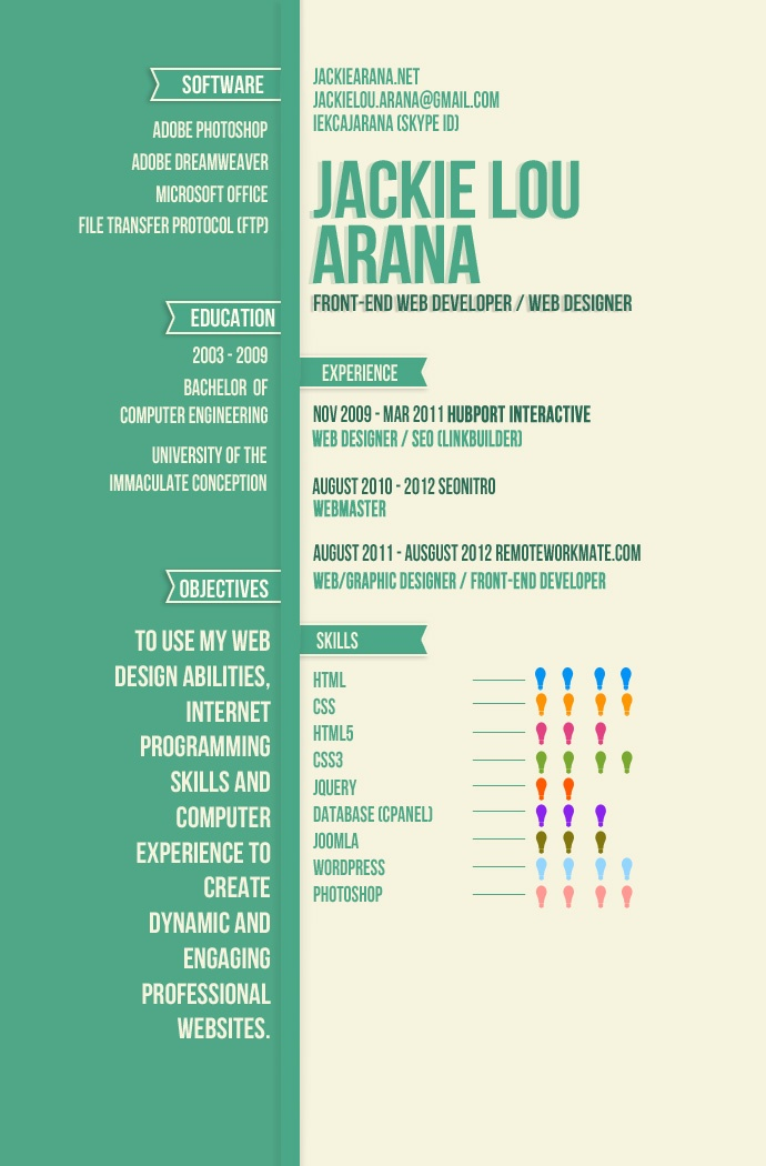 36 best images about infographic resume on pinterest