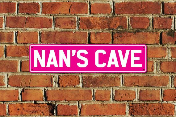 This listing is for one brand new NANS CAVE metal sign, made of aluminium composite material with full colour printing, created by Doozi.