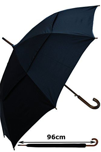 "Parapluie Canne - Résistant Au Vent - Solide - Automatique - Double Toile Pour Lutter Contre Les Dommages Causés Par Retournement - Poignée En Bois - ""StormDefender City"" - Noir - Grand COLLAR AND CUFFS LONDON http://www.amazon.fr/dp/B017YWMEUA/ref=cm_sw_r_pi_dp_GfrPwb1NHET3T"