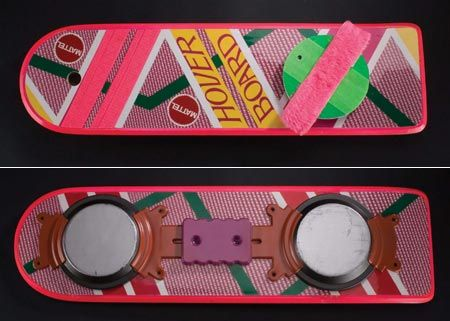 Mattel Hover Board - Back To The Future 2 (1989)  http://gizmodo.com/5884660/mattel-is-finally-making-the-back-to-the-future-hoverboard