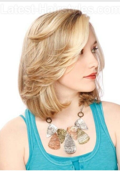 feathered bangs with bob cut