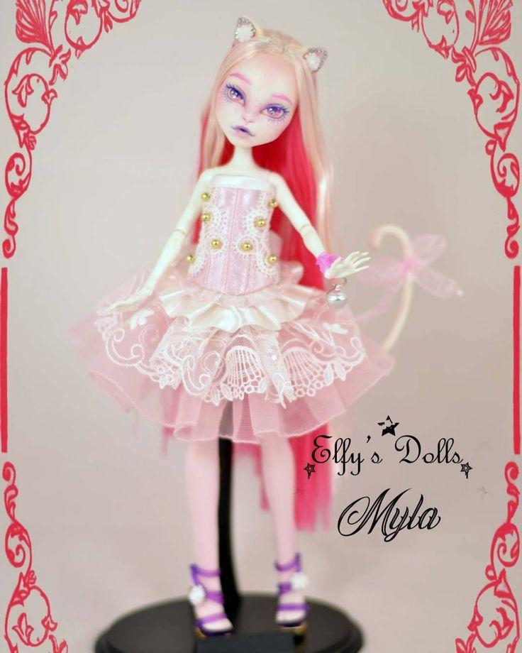"194 Likes, 4 Comments - Elfy's Dolls (@elfysdolls) on Instagram: ""Myla available #doll #monsterhigh #custommonsterhigh #monsterhighcustom #repaint #ooak #ooakdoll…"""