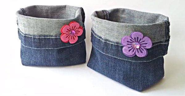 Don't Toss Out Those Old Jeans; Instead, Turn Them Into Something Useful And Beautiful!