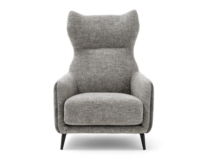 Wing fabric armchair with armrests DUFFLÉ | Fabric armchair by Ditre Italia