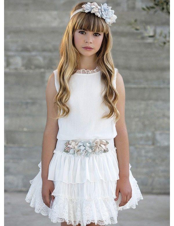 5827a5c54 Vestido de arras ceremonia fiesta de niña, AMAYA 2018 NUEVA ...