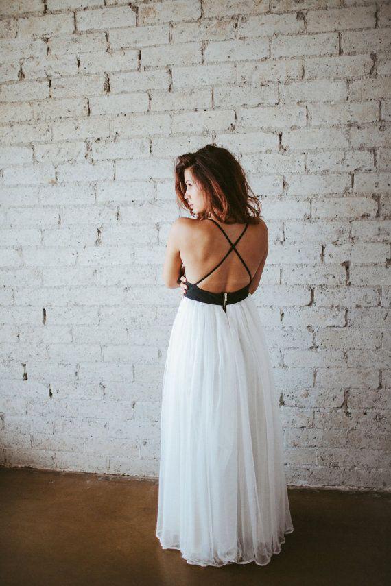 Bohemian Leather and Silk Gauze Floor Length Gown Phoenix by ouma