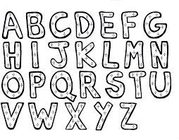 Resultado de imagen para letras para colorear