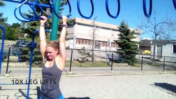 MONKEYING AROUND workout.   TGIF   Monkey bars Leg lifts and Jump squats   Facebook/pint: Personal Training with Stephanie Thompson