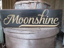 Primitive Wood Sign Moonshine Man Cave Bar Rustic Country Saloon Cabin Handmade