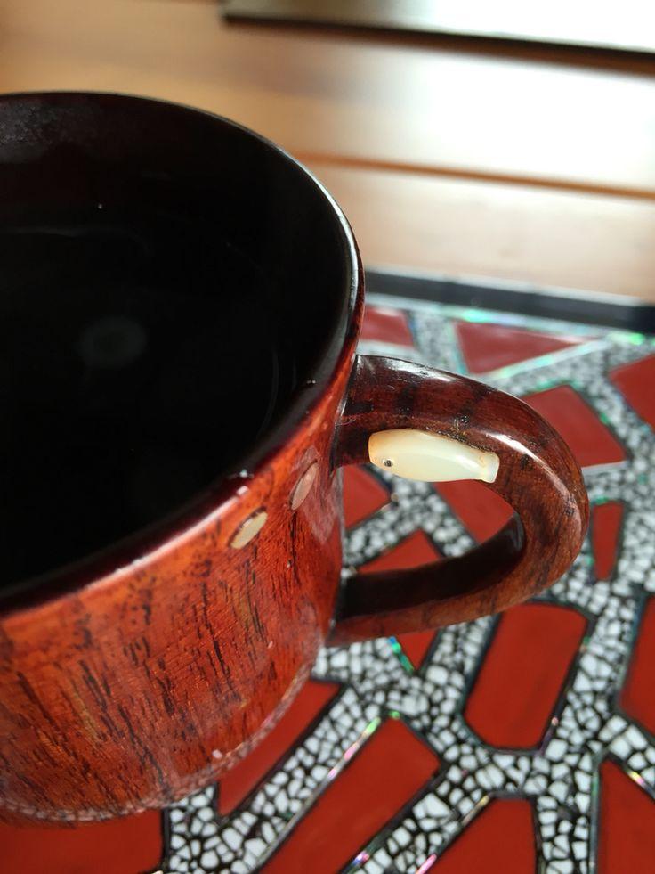 옻 커피  #난각 #나전 #주칠 #옻칠 #컵