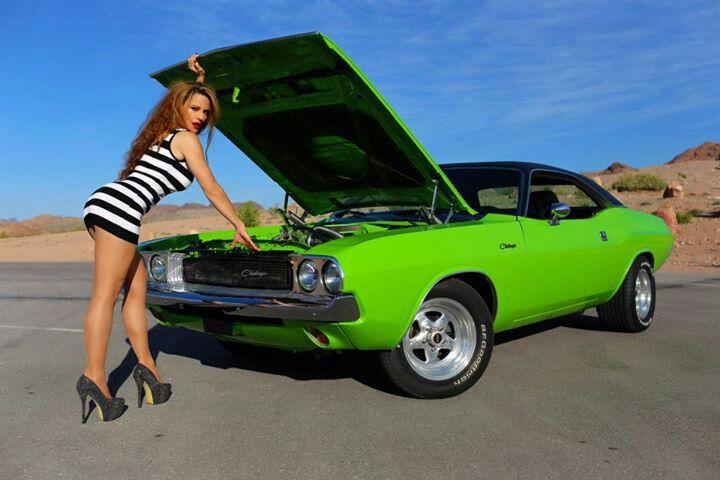 viva las vegas autos girl kim with our 1970 dodge