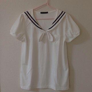 しまむら*セーラートップス レディースのトップス(Tシャツ(半袖/袖なし))の商品写真