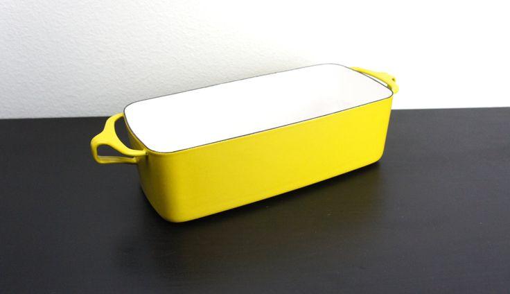 Vintage Dansk Kobenstyle 11.5 in Yellow Loaf Pan, Baking and Serving Dish, Enameled Steel, France, Jens Quistgaard Mid Century Modern 170088 by TheLionsDenStudio on Etsy