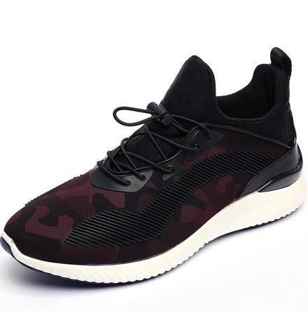 Men Casual Sports Shoes, Black, Red