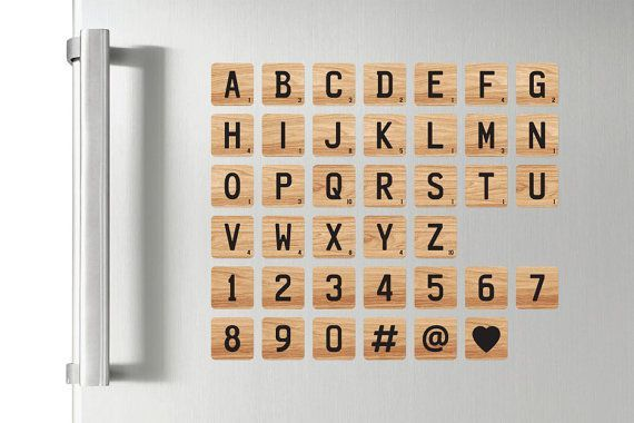 Personalized Wood Effect Scrabble Letter Tile Stickers Wall Stickers Bedroom Lettering Adhesive Vinyl