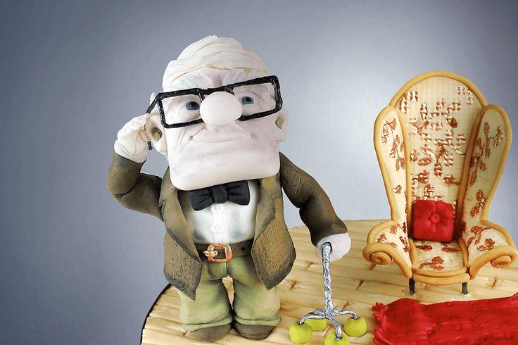 Tutorial tarta película Up de Pixar. Cómo hacer el abuelito