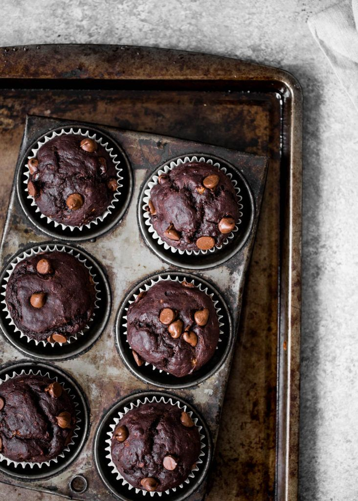 Skinny Double Chocolate Banana Muffins for Reagan | Ambitious Kitchen