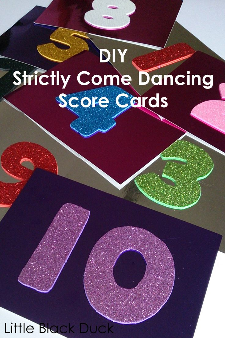 Strictly Come Dancing Score Cards