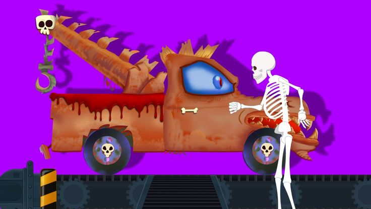 Scary Toy Factory | Tow Truck | Halloween Video