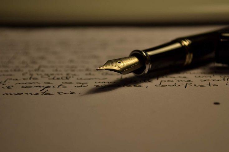 2000x1333 Обои бумага, лист, надписи, перо, почерк, ручка, текст