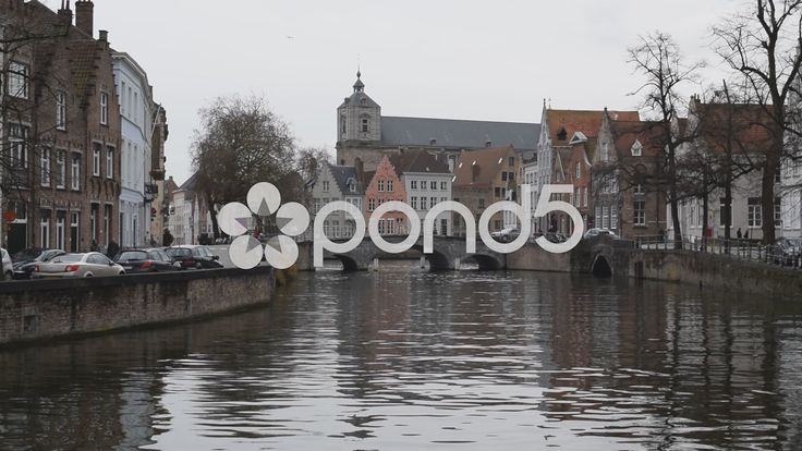 Bruges, Belgium Bridge over canal 2 of 2 - Stock Footage | by glenman77