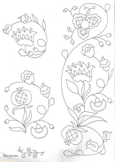Peasant Folk Art embroidery pattern