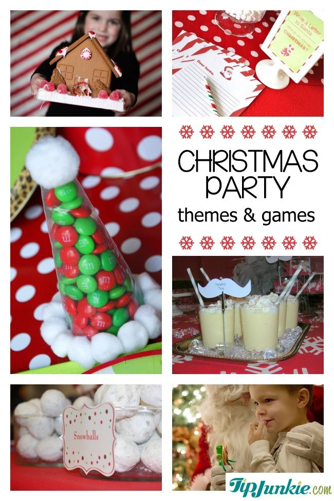 34 Christmas Games and Party Themes {best parties ever!} #christmas #holidays